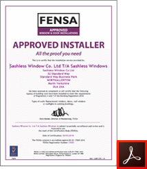 FENSA Approved Installer Certificate