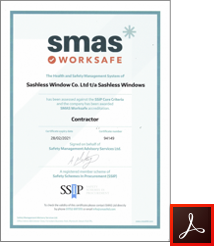 SMAS Worksafe Accredited Certificate